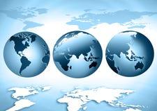Het beste Concept van Internet globale zaken Bol, gloeiende lijnen op technologische achtergrond WiFi, stralen, symbolen Royalty-vrije Stock Fotografie