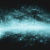 Het beste Concept van Internet globale zaken Technologische achtergrond, symbolen WiFi, van Internet, mobiele televisie, vector illustratie