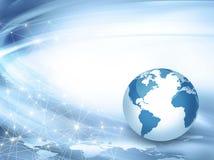 Het beste Concept van Internet globale zaken van conceptenreeks Stock Foto