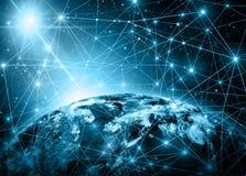 Het beste Concept van Internet globale zaken van conceptenreeks Royalty-vrije Stock Afbeeldingen
