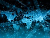 Het beste Concept van Internet globale zaken van conceptenreeks Stock Fotografie