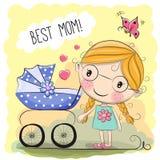 Het Beste mamma van de groetkaart vector illustratie