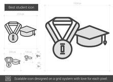 Het beste pictogram van de studentenlijn Stock Foto