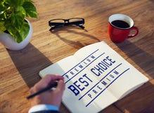 Het beste van het de Toekennings Fijnste Certificaat van de Keusverkoper Grafische Concept Stock Afbeeldingen
