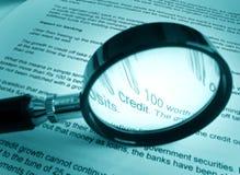 Het bestuderen over krediet royalty-vrije stock afbeelding
