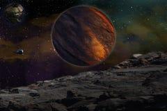 Het bestuderen van anderen planeet stock afbeeldingen