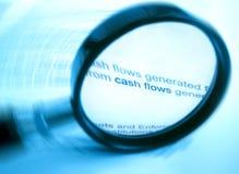 Het bestuderen van cash flow royalty-vrije stock foto's