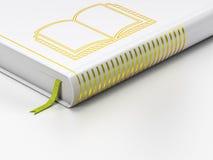 Het bestuderen van concept: gesloten boek, Boek op witte achtergrond Stock Afbeelding