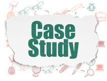 Het bestuderen van concept: Gevallenanalyse over Gescheurd Document Royalty-vrije Stock Afbeeldingen