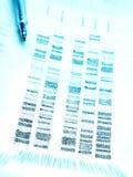 Het bestuderen van de profielen van DNA Stock Afbeelding
