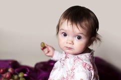 Het bestuderen van druiven royalty-vrije stock foto