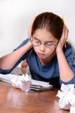 Het Bestuderen van het kind Stock Foto