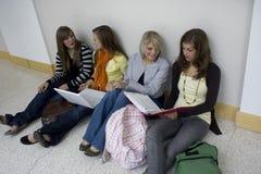 Het bestuderen van studenten Stock Foto's