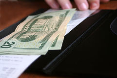 Het betalen van de Rekening Stock Foto's