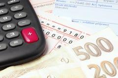 Het betalen van de rekeningen. Royalty-vrije Stock Foto