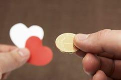 Het betalen voor een liefde Stock Foto's