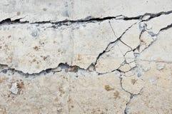 Het beton van de barst royalty-vrije stock afbeelding