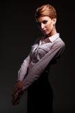 Het bevallige jonge model stellen Stock Foto