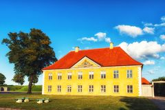 Het Bevelhebbers` s Huis in Kastellet, Kopenhagen Royalty-vrije Stock Foto's