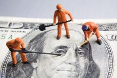 Het bevestigen van de economie Stock Foto