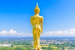 Het bevindende beeld van Boedha in Wat Phra That Khao Noi-tempel Royalty-vrije Stock Afbeelding