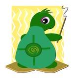 Het Bevlekken van de schildpad met de Stok van de Wierook royalty-vrije illustratie