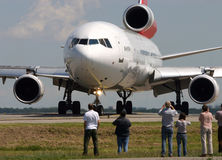 Het bevlekken van het vliegtuig Royalty-vrije Stock Foto's