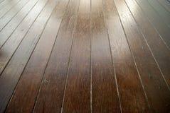 Het bevlekte hout decking Royalty-vrije Stock Fotografie
