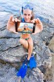 Het bevriezen van dit ontzagwekkende ogenblik Royalty-vrije Stock Fotografie