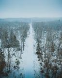 Het Bevroren Landschap van de Parikracht in Noord-Zeeland, Denemarken, dat op Unesco is royalty-vrije stock fotografie