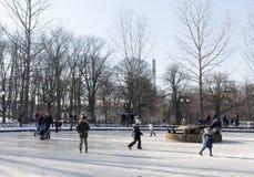 Het bevroren spel van fonteinkinderen Stock Fotografie