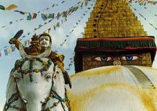 Het bewaken van de tempel stock afbeeldingen