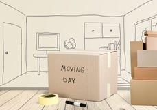Het bewegen van huis Royalty-vrije Stock Afbeeldingen