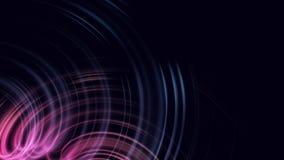 Het bewegen van stromende abstracte golven op een donkere achtergrond Vaag vlot ontwerp royalty-vrije illustratie