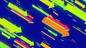 Het bewegen zich onderaan pijlen op blauw vector illustratie