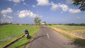 Het bewegen zich op straat in Bali stock footage
