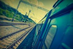 Het bewegen zich train_1 Royalty-vrije Stock Foto