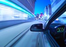 Het bewegen zich van de auto Stock Afbeeldingen
