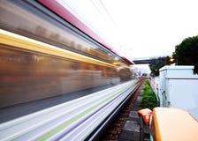 Het bewegen zich van de trein stock afbeelding