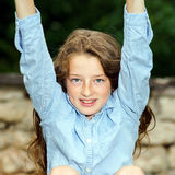 Het bewegen zich in volwassenheid Openlucht Portret van Tiener stock afbeelding