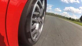 Het Bewegende Drijven van Audi R8 op een Renbaan stock footage