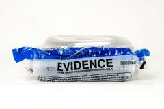 Het bewijsmateriaalzak van de politie stock foto's