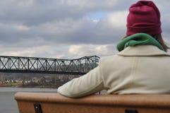 Het bewonderen van de brug Royalty-vrije Stock Afbeeldingen