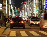 Het bezige leven in Tokyo stock afbeelding