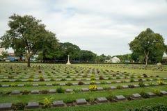 Het bezoek aan de heldenbegraafplaats verenigde gevechtskrachten Stock Foto's