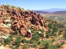 Het panorama van het landschap van het Nationale Park van Bogen, Utah Royalty-vrije Stock Afbeelding