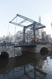 Het bezoek van Aluminiumbrugamsterdam Stock Fotografie