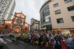 Het bezoek van pausfrancis aan Roemeni? stock foto