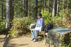 Het bezoeken van het hout. Stock Fotografie
