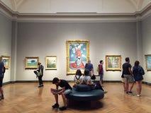 Het bezoeken van Museum van Beeldende kunsten Boston stock foto's